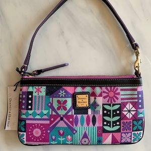 Disney Dooney & Bourke Its a Small World Wristlet